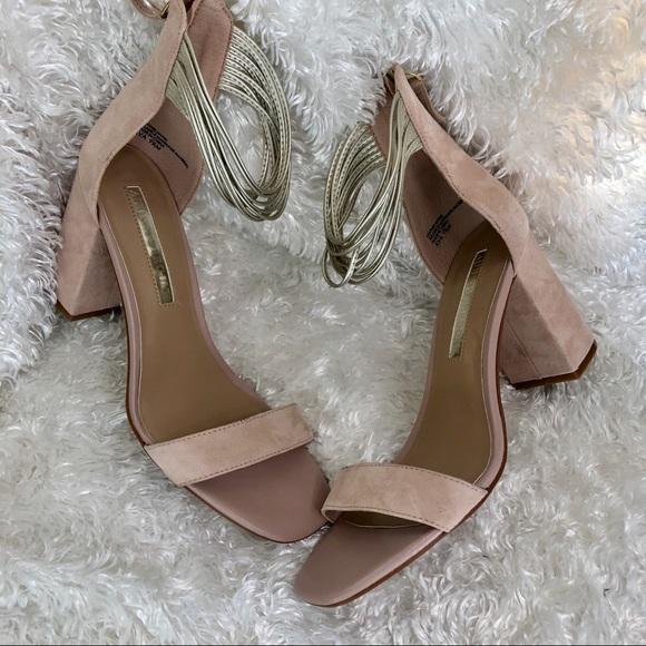 edbab51386 Audrey Brooke Shoes | Ava Blush Suede Sandal Heels Sz 95 | Poshmark